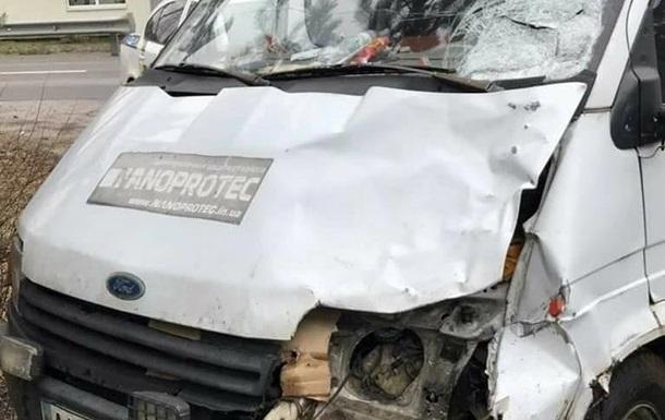 Под Киевом автомобиль сбил женщину и скрылся с места аварии