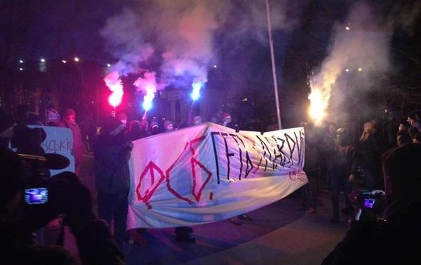 Радикалы завершили акцию у Киево-Печерской лавры