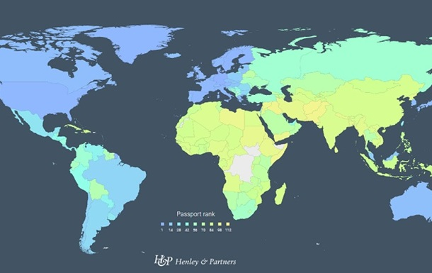 Україна зайняла 44-е місце в рейтингу паспортів