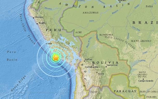 У побережья Перу произошло землетрясение магнитудой 7,3