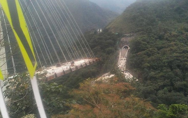 В Колумбии при обрушении нового моста погибли десять человек