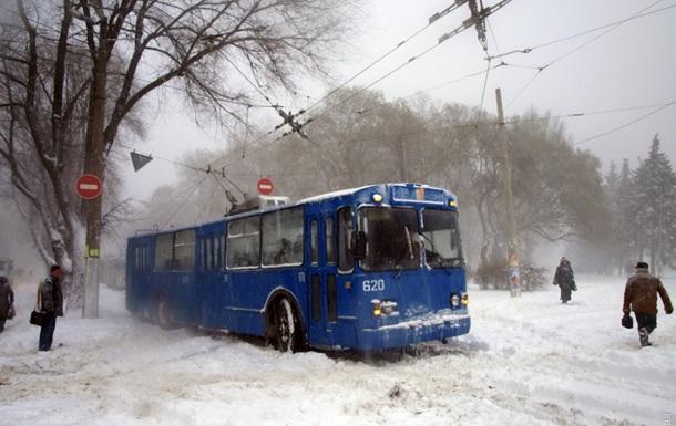 Одессу завалило снегом, в городе коллапс