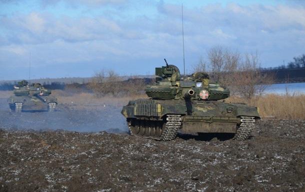 Військові показали іспит танкістів в АТО