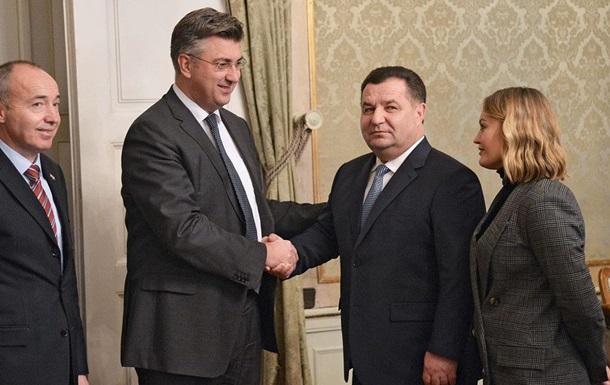 Украина и Хорватия планируют совместные военные учения