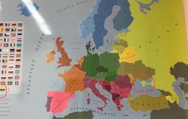 В пражской школе нашли карту с  российским Крымом