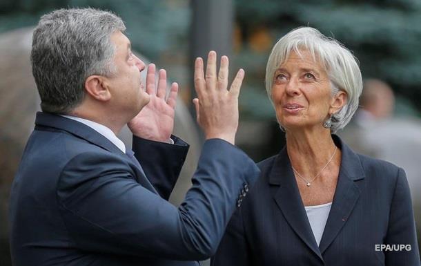 Порошенко зустрінеться з главою МВФ у Давосі