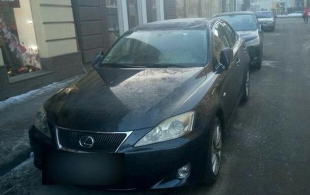 Пьяный житель Львова  потерял  свой Lexus и заявил об угоне