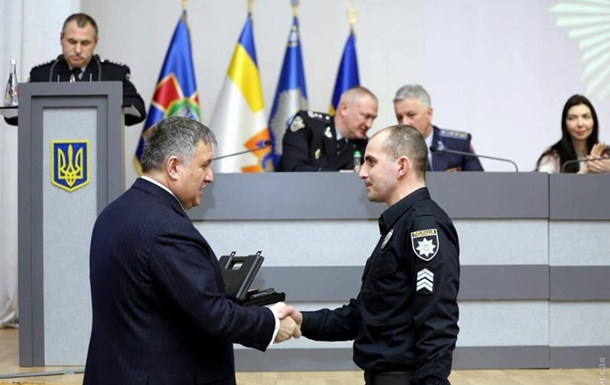 В Одесі нагородили поліцейських, які застрелили проросійського активіста