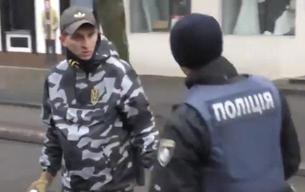 У Кременчуці побилися активісти Національних дружин з поліцією