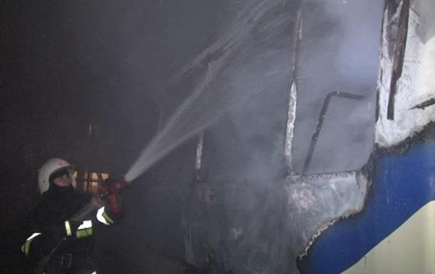 Во Львове сгорел автобус