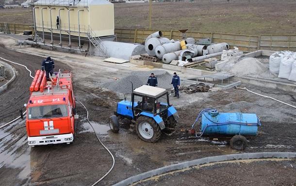 Пожежу на маслозаводі під Миколаєвом гасили сім годин