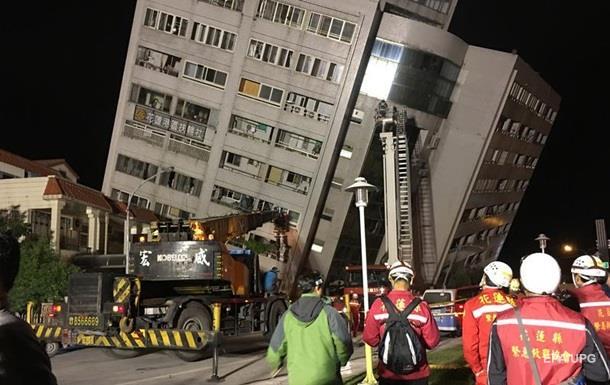 Землетрус на Тайвані: двоє людей загинули, майже 200 поранені