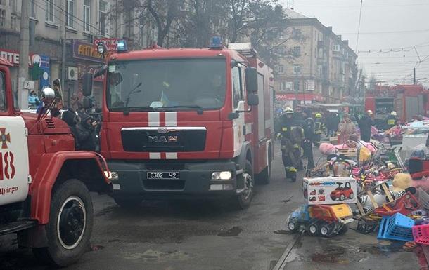 В центре Днепра сгорели киоски