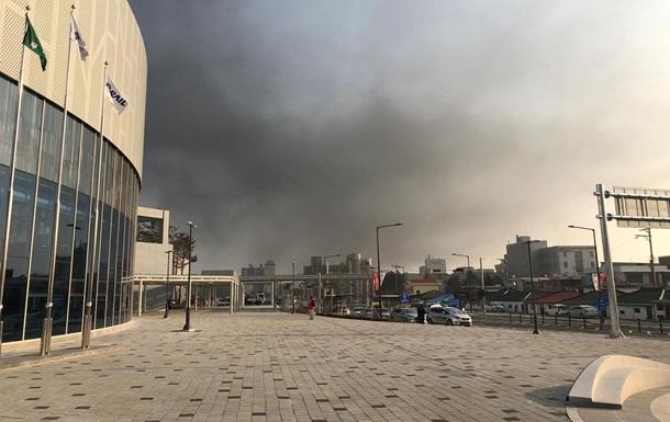 Недалеко от Олимпийской деревни произошел масштабный пожар