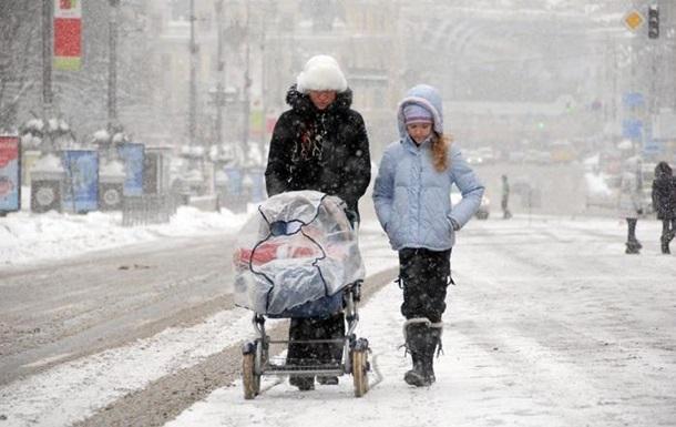 Вихідними в Україні очікують мокрий сніг