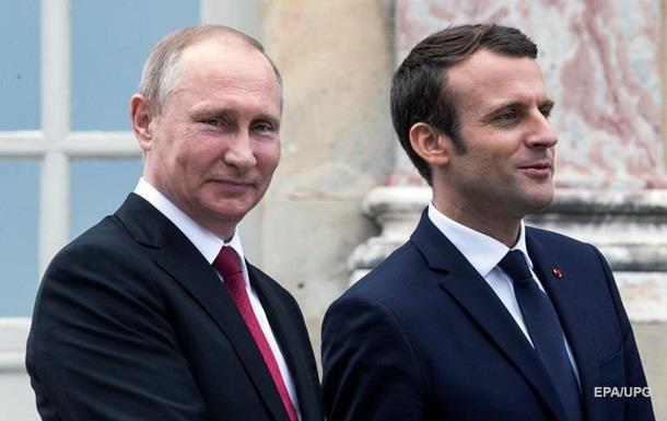 Путін розповів Макрону про  внутріукраїнський конфлікт
