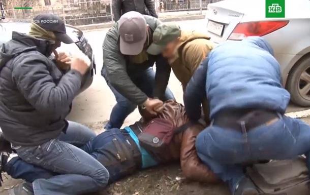 Появилось видео задержания  шпиона  в Симферополе