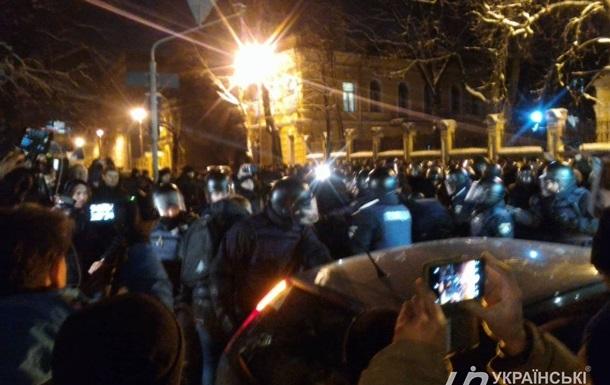 Прихильники Саакашвілі протестують під АП