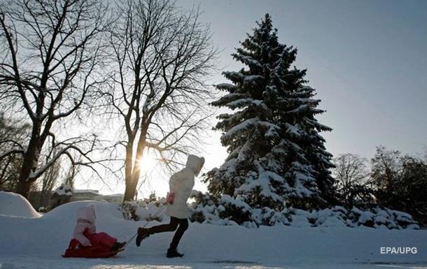 В Украину идет потепление со снегопадами