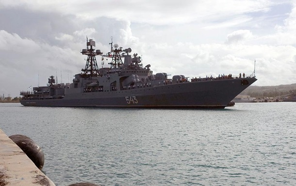 У Росії загорівся бойовий корабель