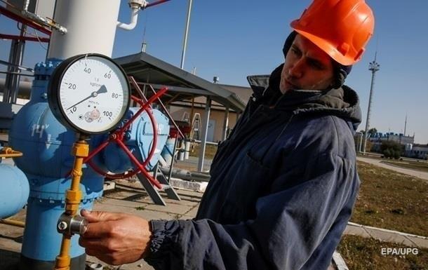 Запасы газа в Украине упали почти на 40%