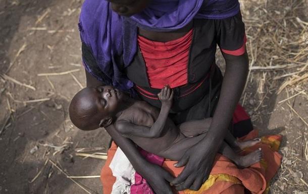 Близько половини населення Південного Судану потерпає від лютого голоду