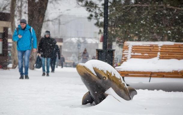 Снегопад в Одессе: школы будут закрыты еще два дня