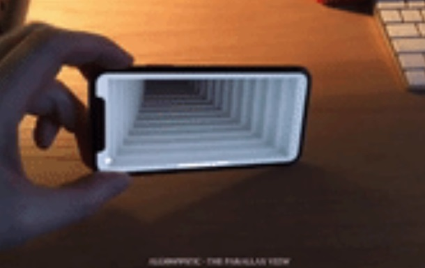 Иллюзия «подвижной дыры» наiPhone X