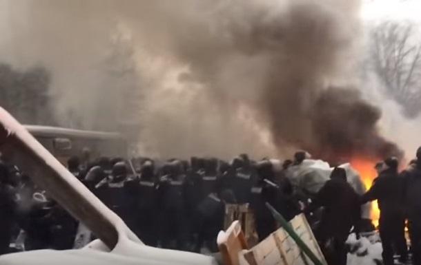 Штурм палаточного городка у Рады попал на видео