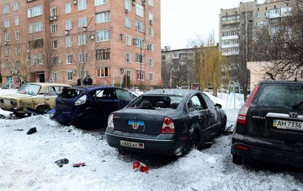 В центре Донецка взорвали автомобиль