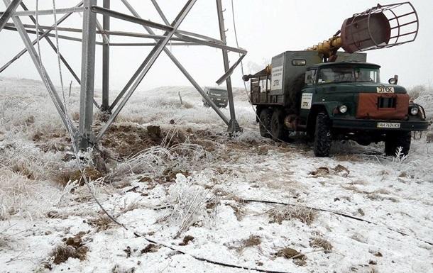 В Україні знеструмлено п ять населених пунктів