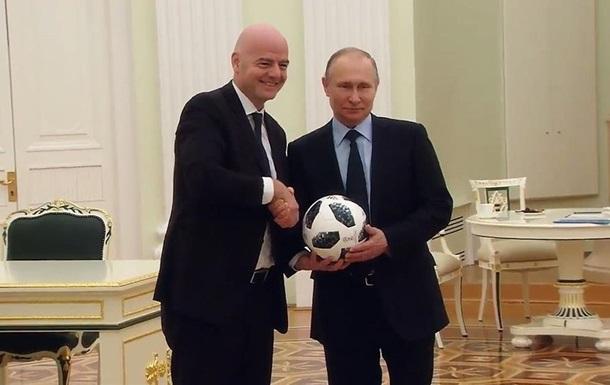 Путін знявся в ролику до ЧС з футболу