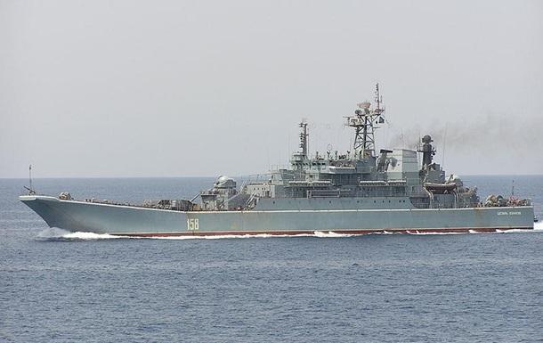 У Криму російський корабель провів артилерійські стрільби