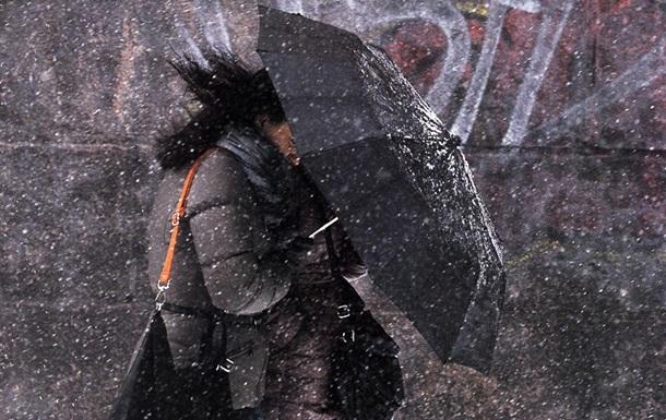 В Украине пройдет дождь с мокрым снегом
