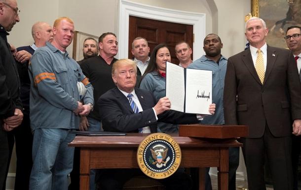 Трамп підписав указ про мита на сталь і алюміній