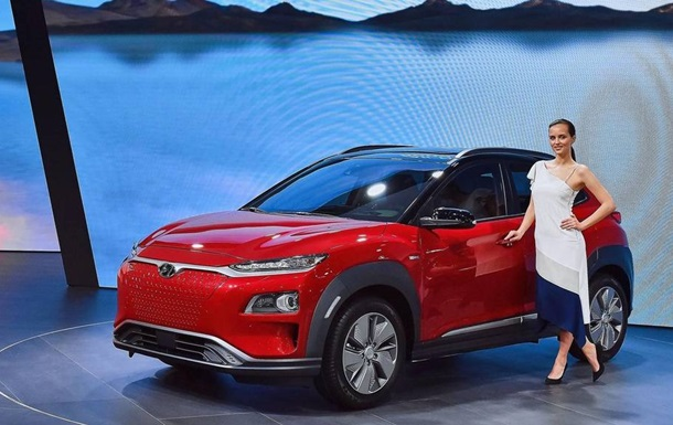 Hyundai Kona Electric представили в Женеві