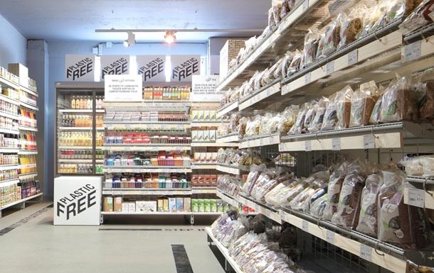 В Амстердамі відкрили перший в світі супермаркет з відділом без пластику