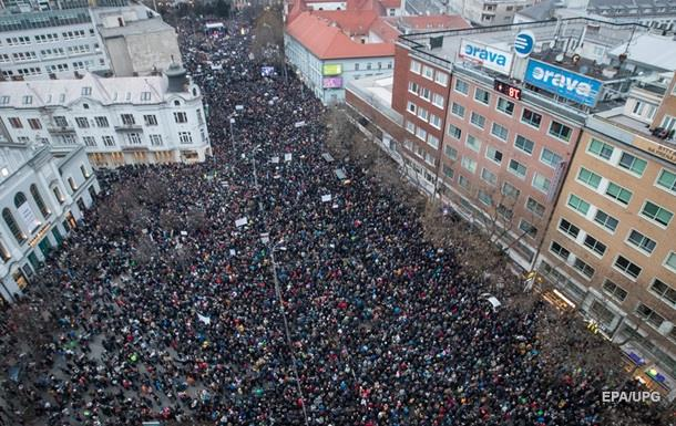 В Словакии протестовали против коррупции