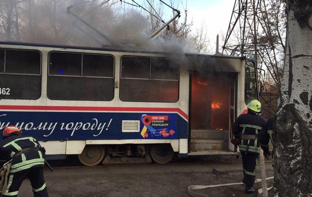 У Запоріжжі загорівся трамвай з пасажирами