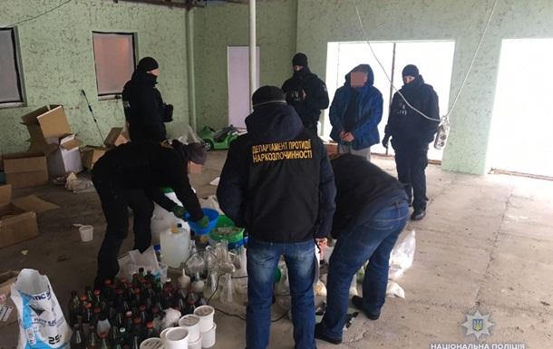 Під Києвом поліція  накрила  підпільну нарколабораторію