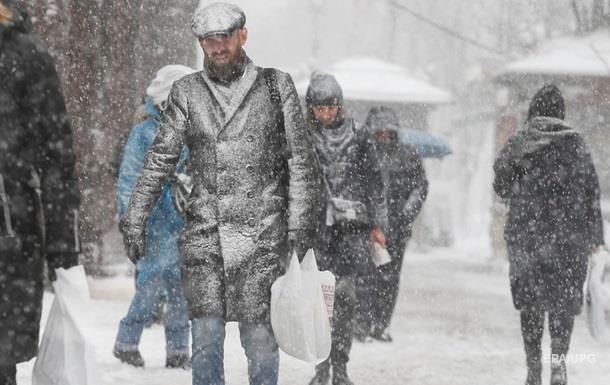 В Україну йдуть хуртовини та мороз до -16