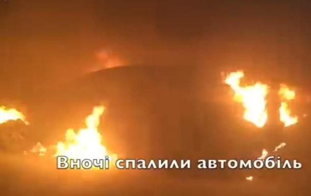 Під Одесою спалили Jaguar депутата міськради