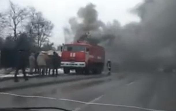 У Києві на будівництві виникла пожежа