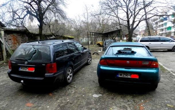 В Берегово разбили девять машин с номерами Венгрии