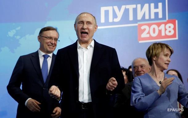 Вибори в Росії: Путін лідирує з 76,65% голосів