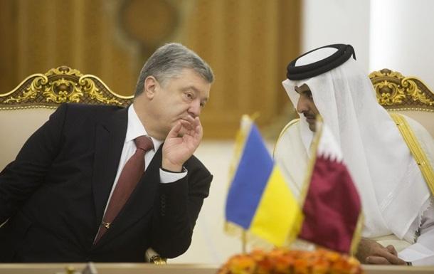 Порошенко попросив еміра Катару про скраплений газ