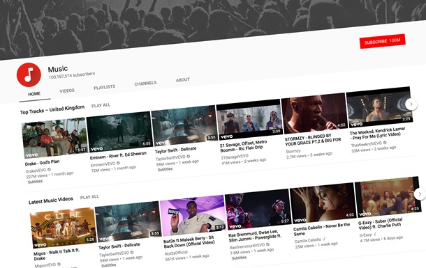 YouTube увеличит количество рекламы между музыкой