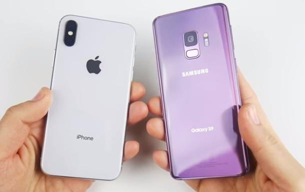 iPhone X обошел по скорости Galaxy S9