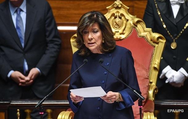 В Італії жінка вперше очолила Сенат