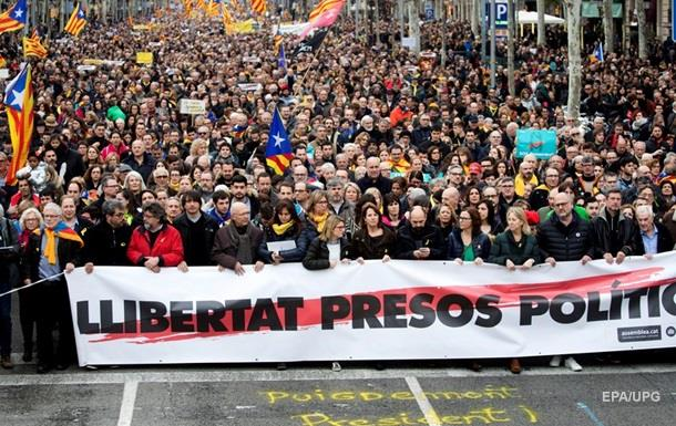 В Каталонии протестуют против задержания Пучдемона